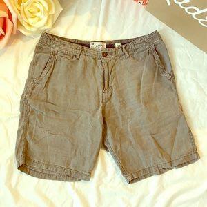 Lucky Brand Linen Flat Front Men's Shorts 34
